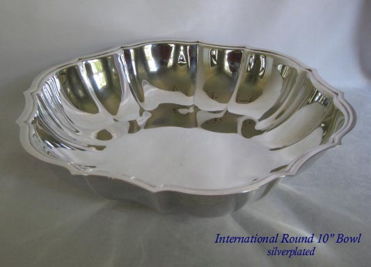 International Silver Co. round silverplated bowl