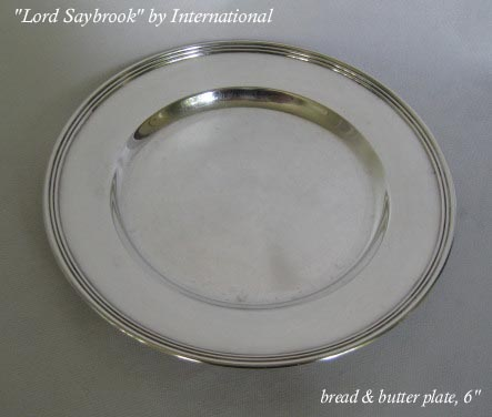Lord Saybrook International sterling bread plate