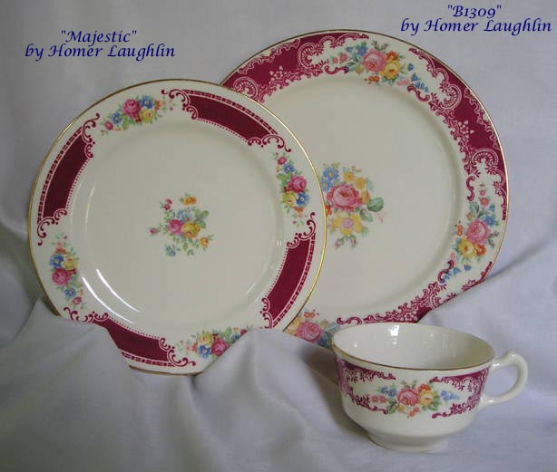 Majestic Homer Laughlin Co. china & Majestic and B1309 by Homer Laughlin Co. - RM Sterling