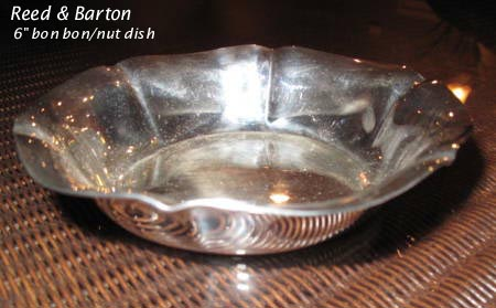 Reed & Barton silverplated bon bon / nut dish