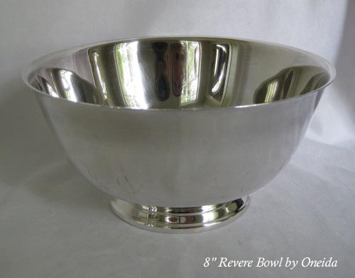 Oneida silverplated Revere bowl 8 inches