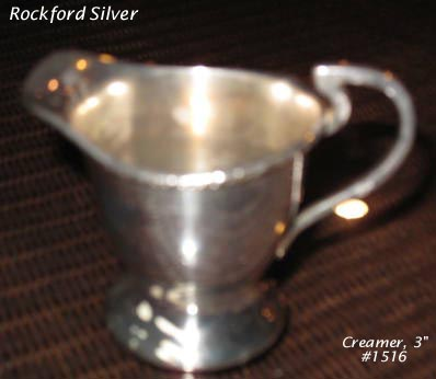 Rockford silverplated creamer