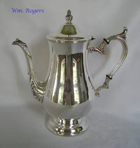 Rogers silverplated coffeepot