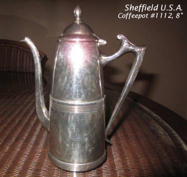 Sheffield silverplated coffeepot