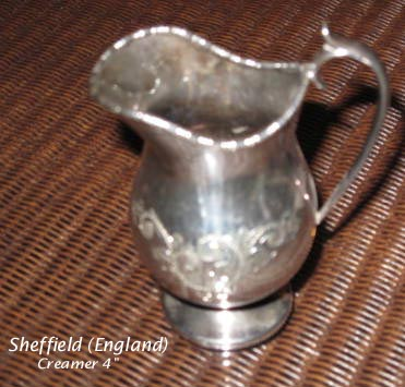 Sheffield silverplated creamer