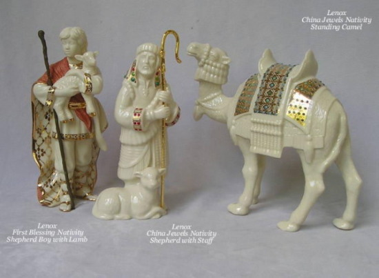 Lenox Nativity First Blessing and 			China Jewels